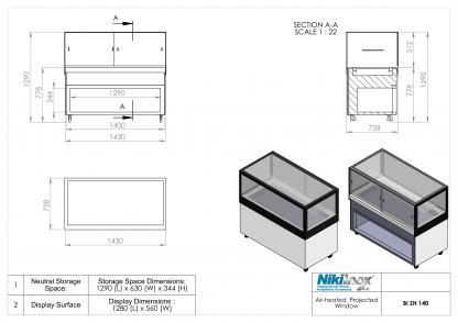 Product Drawing BI ZH 140 ENG 1