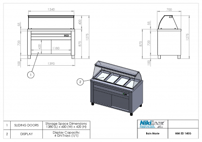 Product Drawing MM ED 140G ENG0001