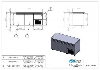 Product Drawing PA 70 157M ENG0001