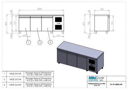 Product Drawing PA 70 208M ENG0001