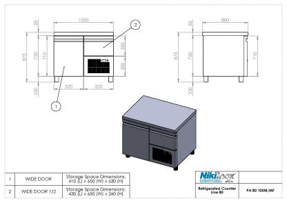Product Drawing PA 80 105M ENG0001