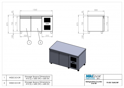 Product Drawing PA 80 156M ENG0001