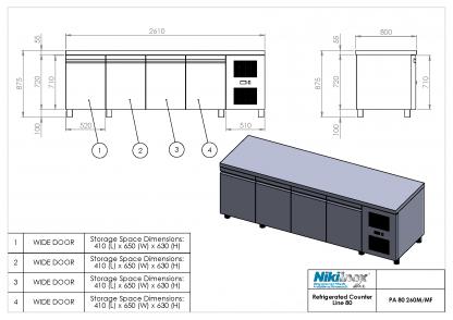 Product Drawing PA 80 260M ENG0001
