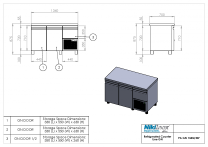 Product Drawing PA GN 134M ENG0001