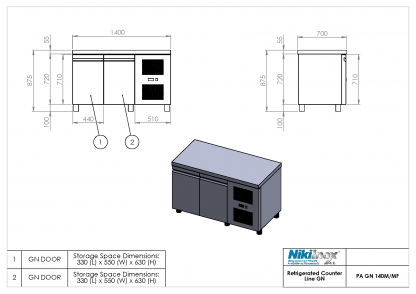 Product Drawing PA GN 140M ENG0001