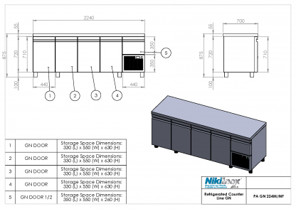 Product Drawing PA GN 224M ENG0001