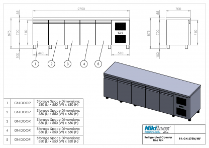 Product Drawing PA GN 275M ENG0001