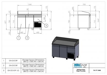 Product Drawing PA PI 134M ENG0001