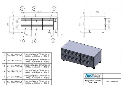 Product Drawing PA XA 150A ENG0001