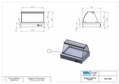 Product Drawing THE ET 089 ENG0001