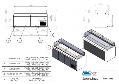 Product Drawing VI XA 210MC ENG0001