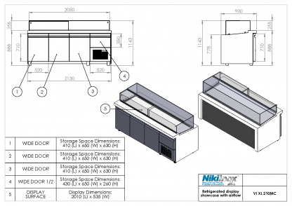 Product Drawing VI XL 210MC ENG0001