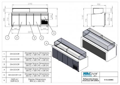 Product Drawing VI XL 224MC ENG0001